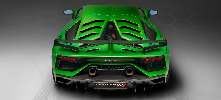 Lamborghini Aventador Svj Green Back View O Lamborghini Palm Beach