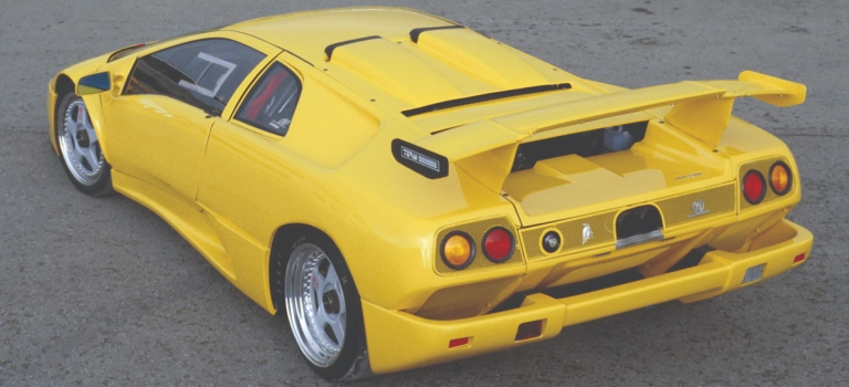Lamborghini Diablo Gt Yellow Back View O Lamborghini Palm Beach