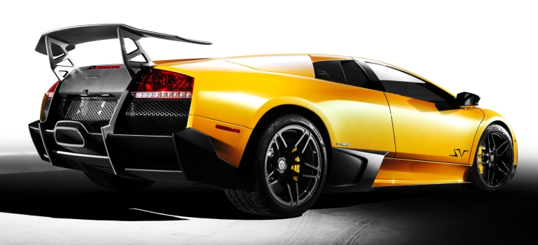 Lamborghini Murcielago Lp 670 4 Superveloce Yellow Back View O