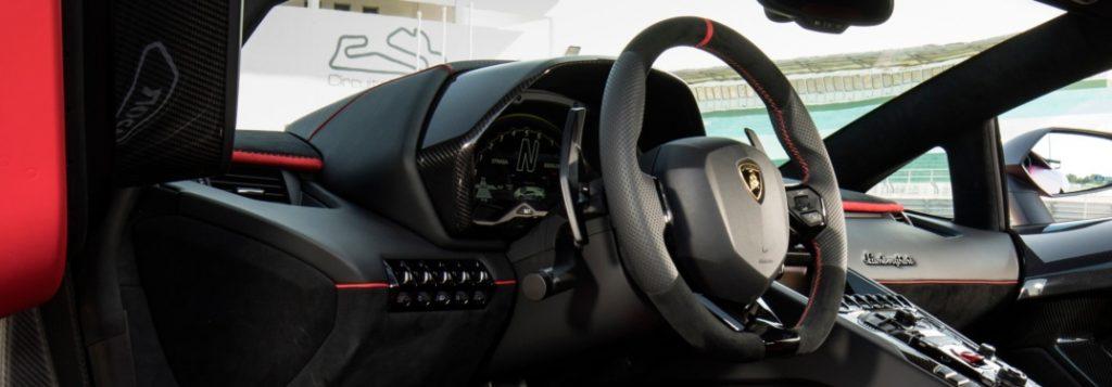 Lamborghini Aventador Svj Red With Black Interior And Paddle