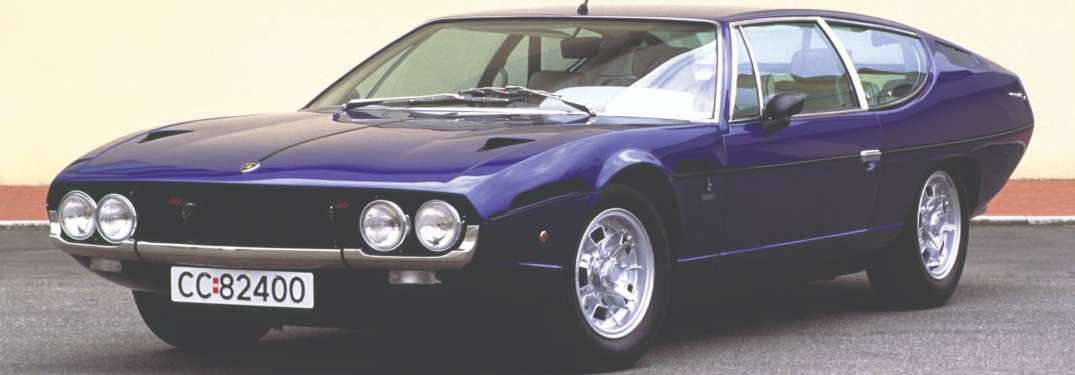 Lamborghini Espada blue front side view