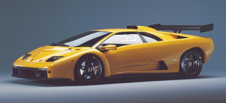 Diablo GTR yellow side view