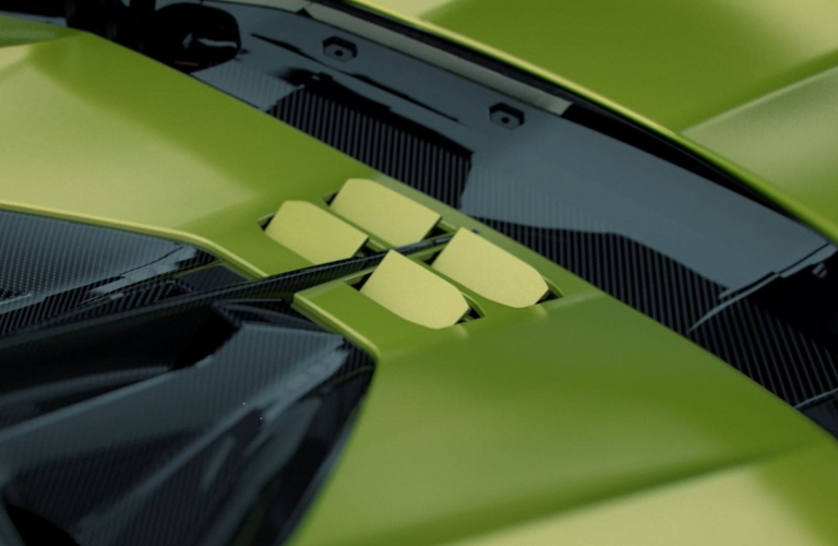 Lamborghini Sian engine heat vents