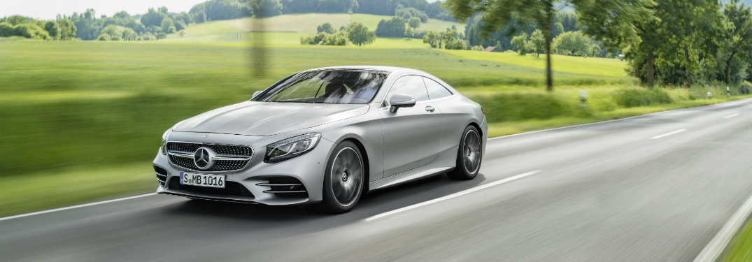 2018 Mercedes-Benz S-Class Coupe driving down road