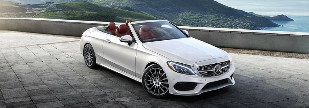 2018 Mercedes-Benz C 300 Cabriolet parked over looking a body of water