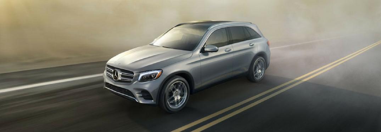 2018-Mercedes-Benz GLC driving on a foggy highway