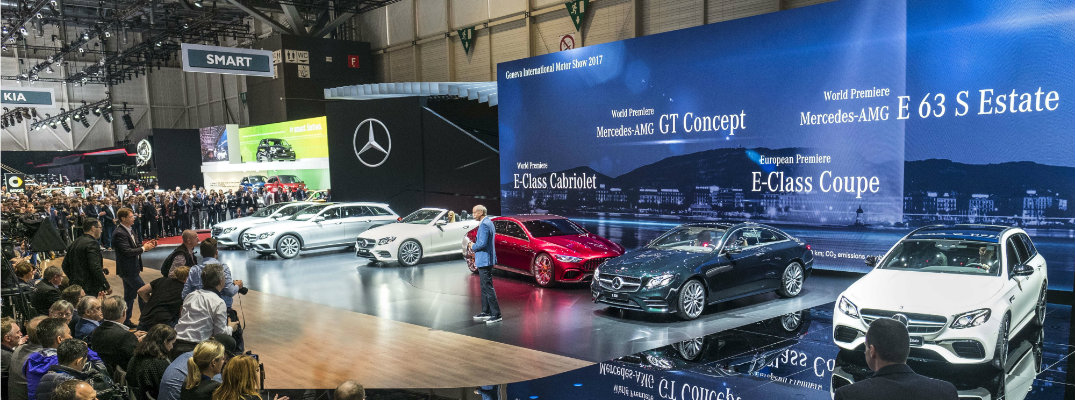 Mercedes-Benz cars on display at 2017 Geneva Motor Show