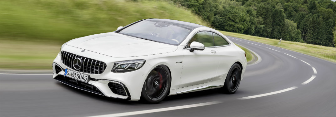 2018 AMG S-Class Coupe driving on open road