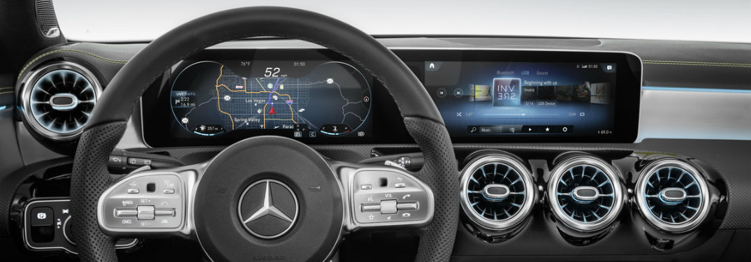 MBUX infotainment system on the 2019 Mercedes-Benz A-Class