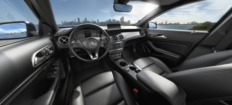 2018 mercedes benz gla interior black leather o silver. Black Bedroom Furniture Sets. Home Design Ideas