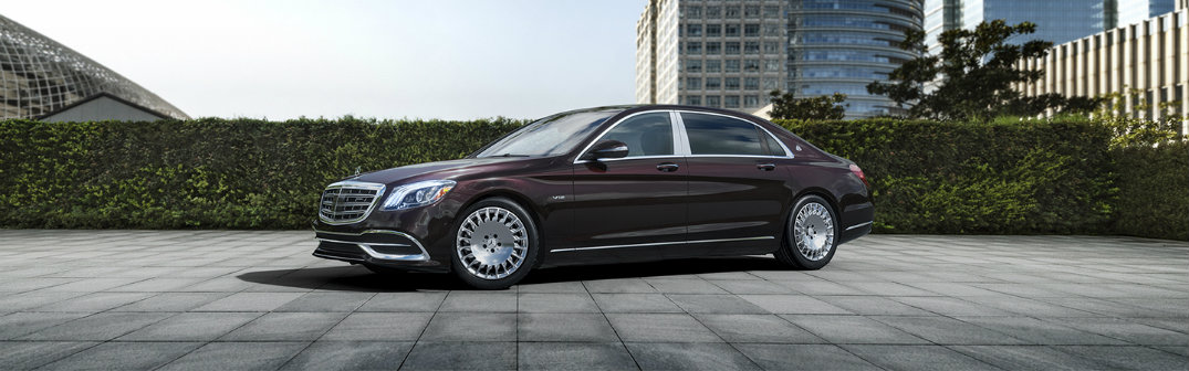 2018 Mercedes-Maybach Sedan parked on terrace near hedges