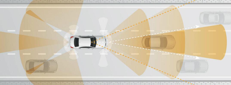 Mercedes-Benz Intelligent Drive Safety Technology sensing radar
