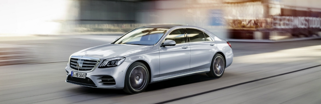 2018 Mercedes-Benz S-Class driving down road