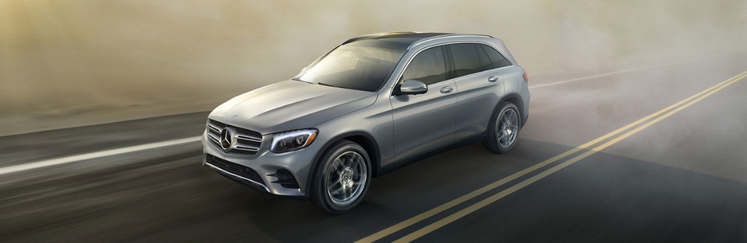 2019 Mercedes-Benz GLC driving on road.