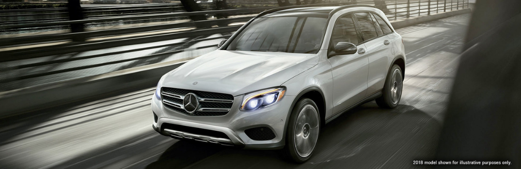 2019 Mercedes-Benz GLC represented by the 2018 model