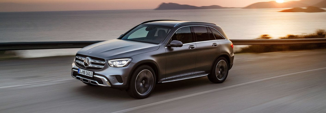 2020 Mercedes-Benz GLC SUV on the road