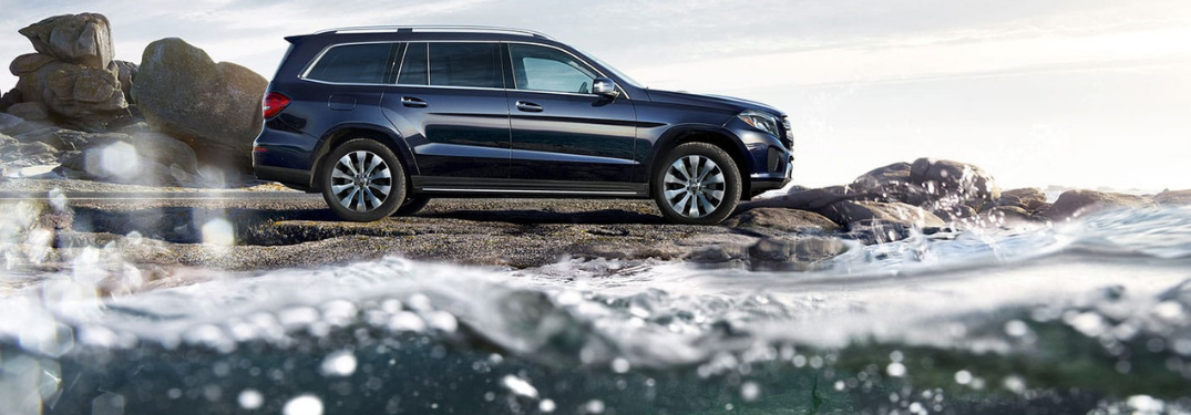 2019 Mercedes-Benz SUV parked by ocean
