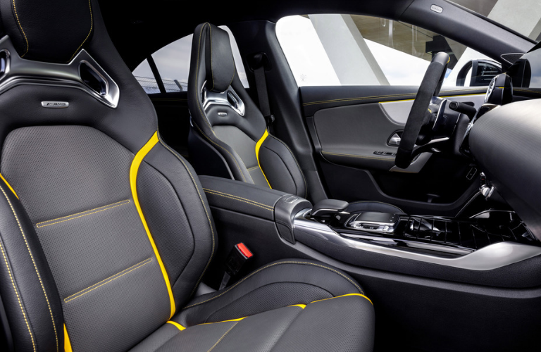 Mercedes-AMG CLA 45 side view front interior