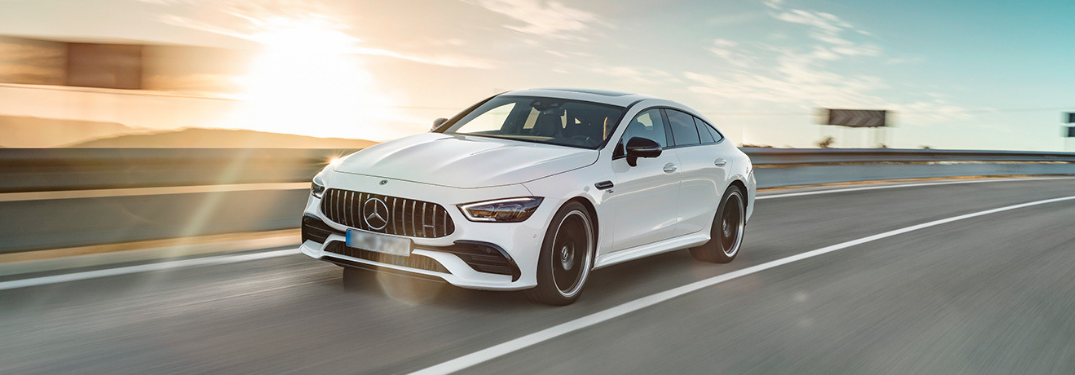 2019 Mercedes-Benz GT driving on the road