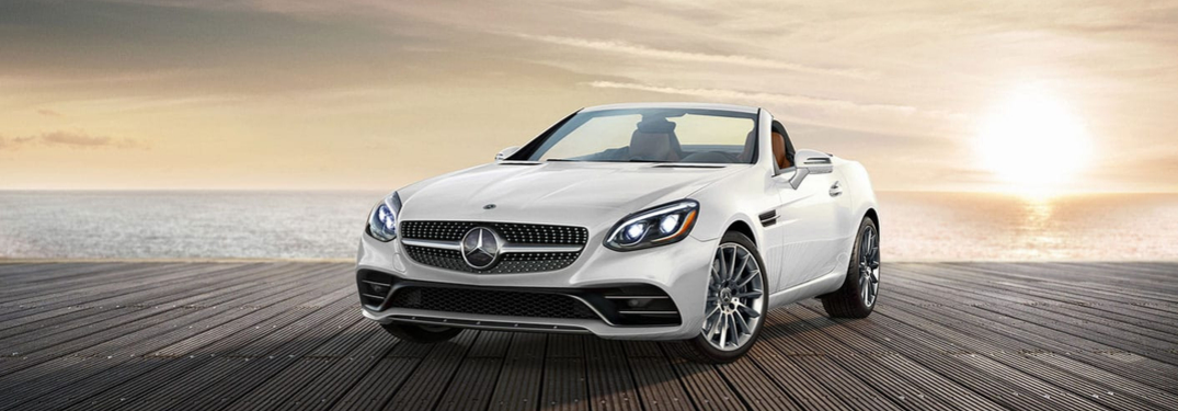 2019 Mercedes-Benz SLC parked on the deck