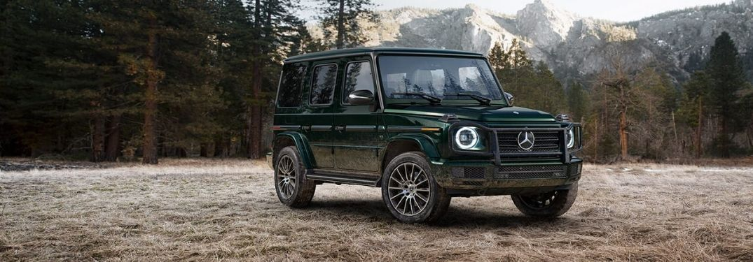 2020 Mercedes-Benz G-Class in front of mountain