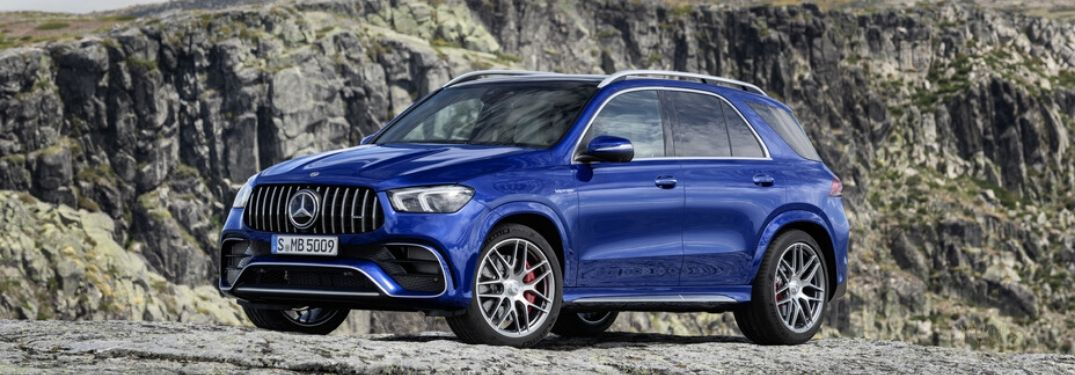 2021 Mercedes-AMG GLE 63 S SUV in front of outcrop