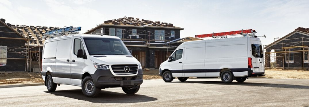 Two models of 2020 Mercedes-Benz Sprinter van