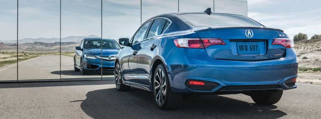 2018 Acura ILX Special Edition in front of a mirrored building