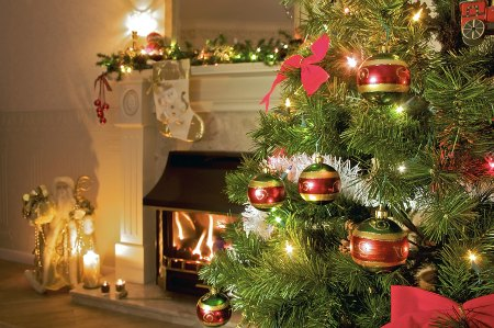how to keep your christmas tree from drying out christmas tree in home living room with fireplace - How To Keep Christmas Tree From Drying Out