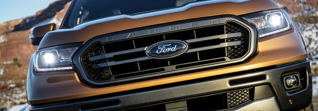 grille close-up of the 2019 Ford Ranger