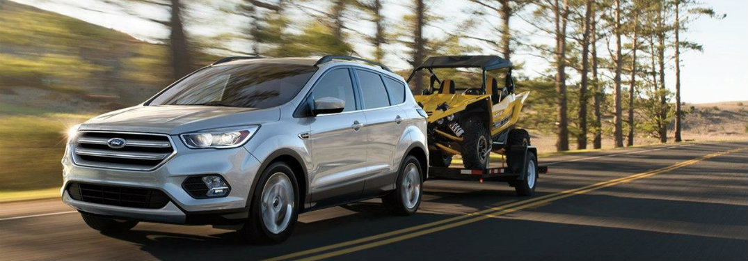2018 Ford Escape towing a four-wheeler
