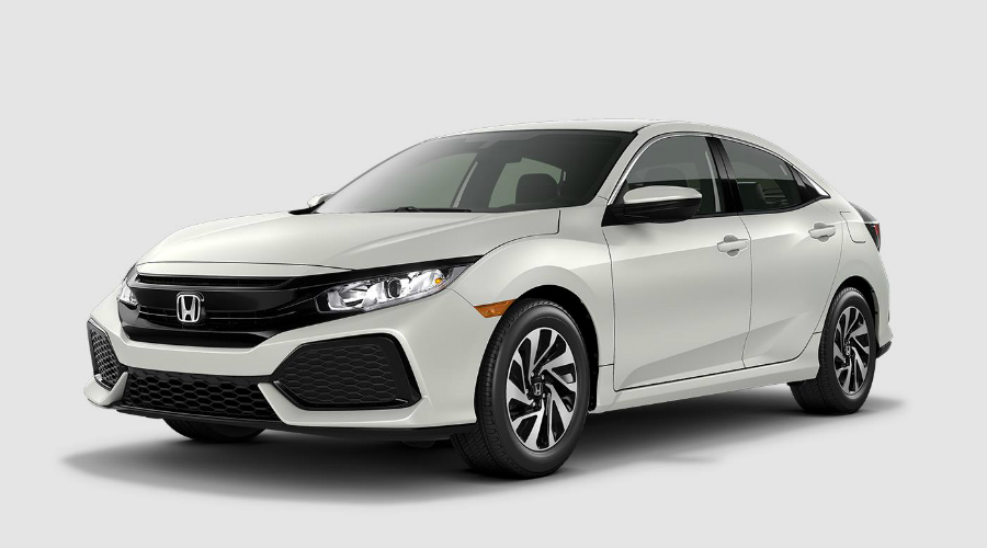 2018 Honda Civic Hatchback in White Orchid