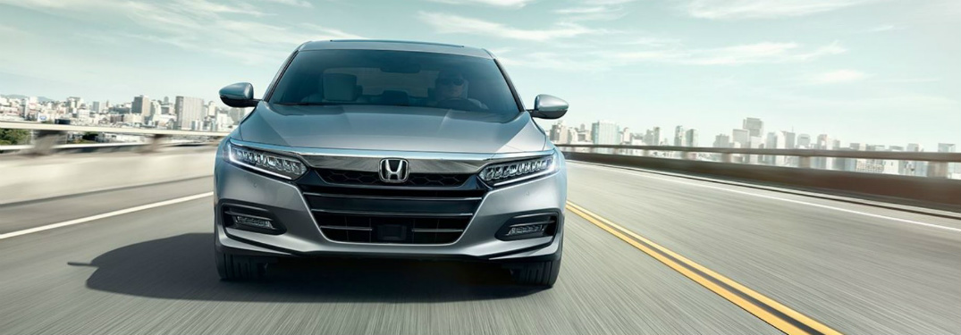 front view of 2018 Honda Accord driving on highway