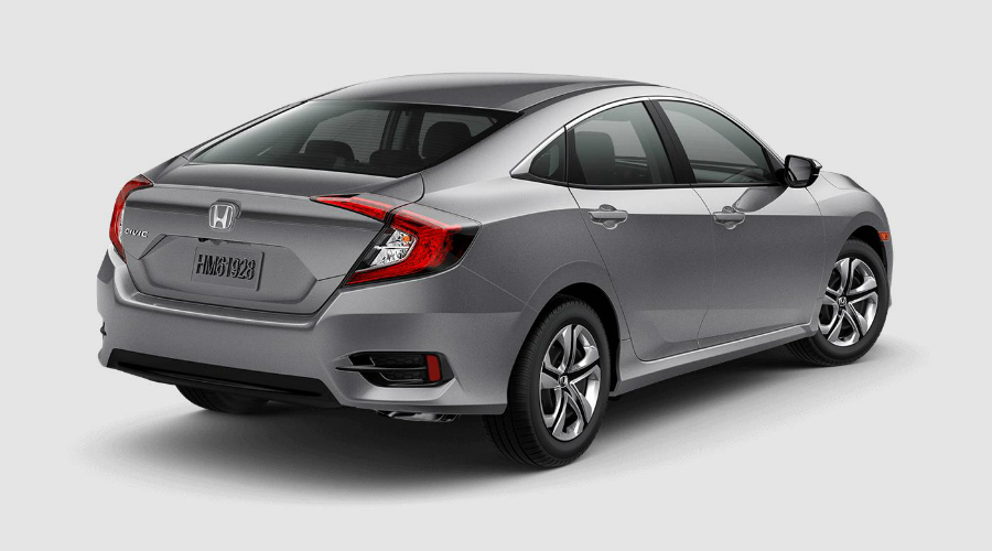 2018 Honda Civic In Lunar Silver