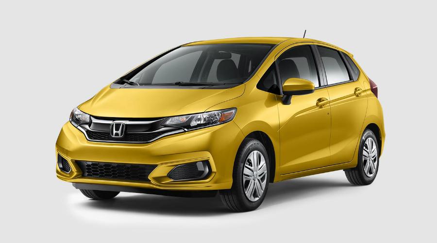 2018 Honda Fit in Helios Yellow Pearl