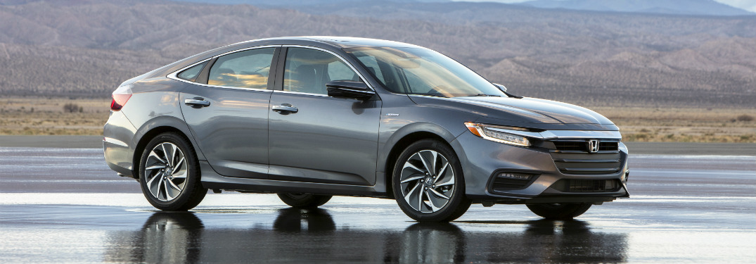 Side view of a grey 2019 Honda Insight