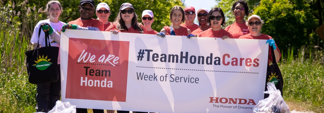 What is the Team Honda Week of Service?