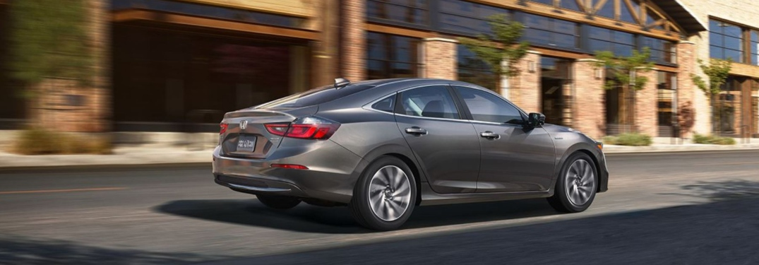 Side view of a gray 2019 Honda Insight