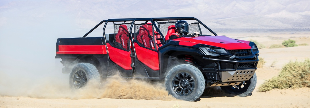 Side view of the Honda Rugged Open Air Vehicle concept