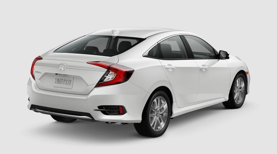 2019 Honda Civic in Platinum White
