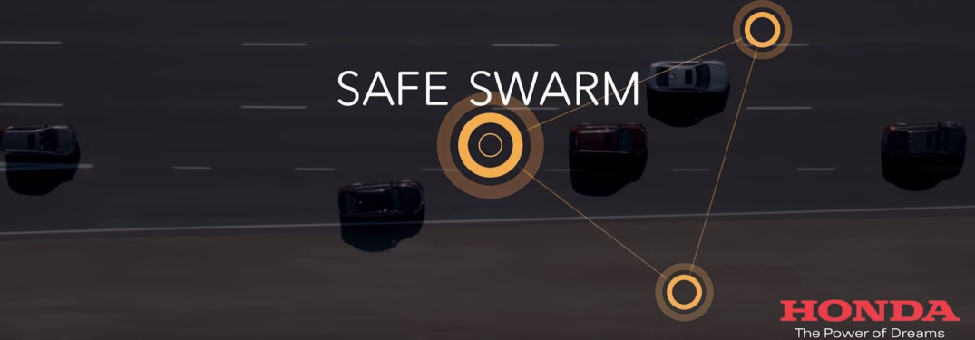Honda SAFE SWARM text on video