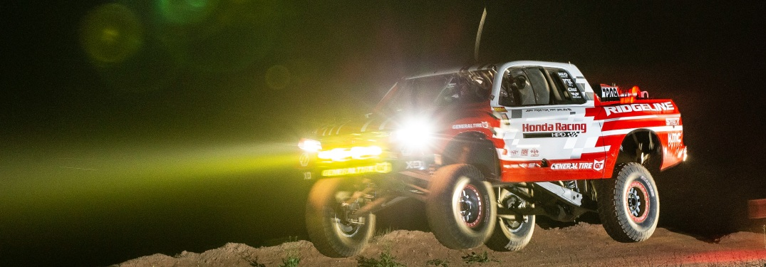 Ridgeline Baja Race Truck rating at night