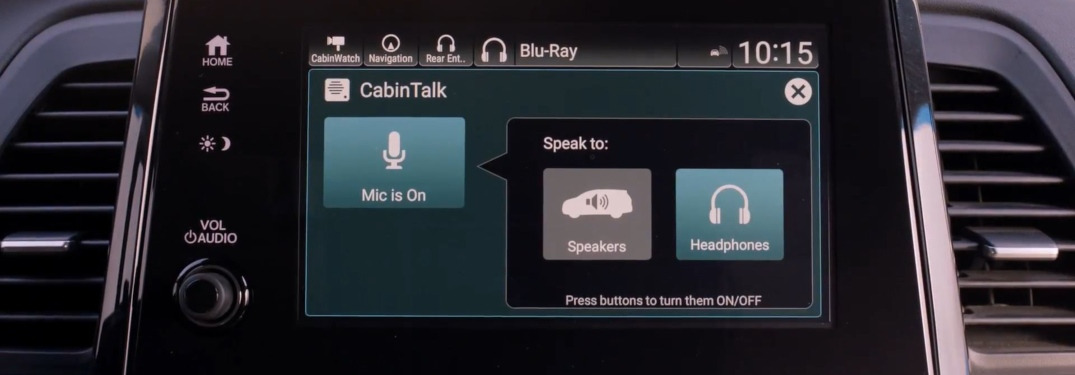 Honda Cabin Talk on the Odyssey infotainment system