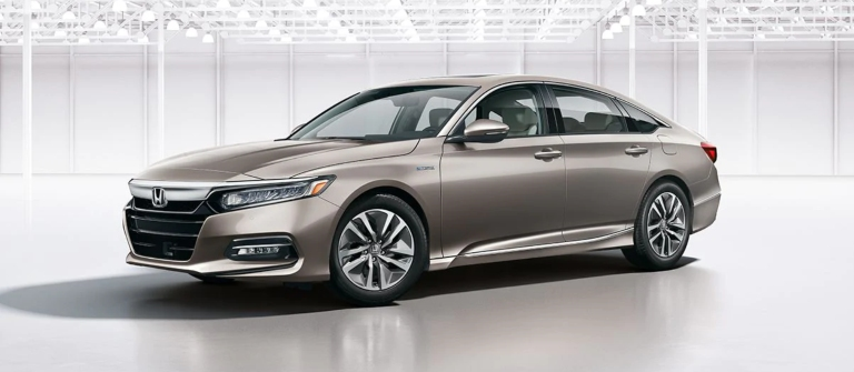 2020 Honda Accord Hybrid Touring in Champagne Frost Pearl