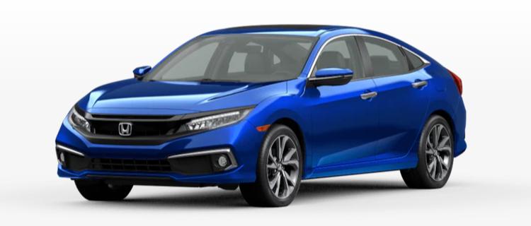 2020 Honda Civic Sedan Aegean Blue Metallic