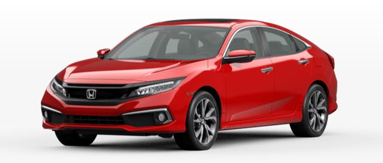 2020 Honda Civic Sedan Rallye Red
