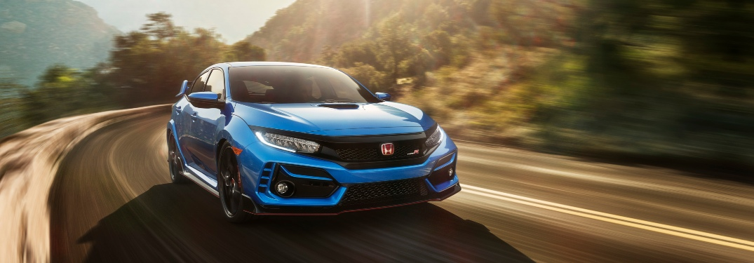 2020 Honda Civic Type R driving on highway