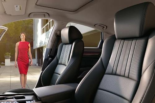 2020 Honda Accord seating showcase with person walking toward car