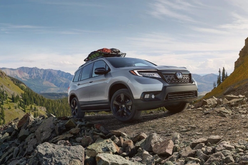 2020 Passport parked on mountain clearing