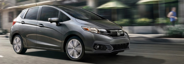 2020 Honda Fit driving through city